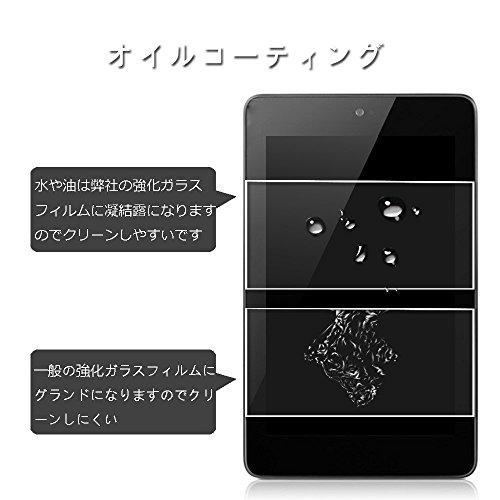 RoiCiel Google Nexus 7 (2012モデル)液晶保護強化ガラスフィルム 硬度9H 超薄0.3mm 2.5D ラウンドエッジ加工 (Google Nexus7(2012))