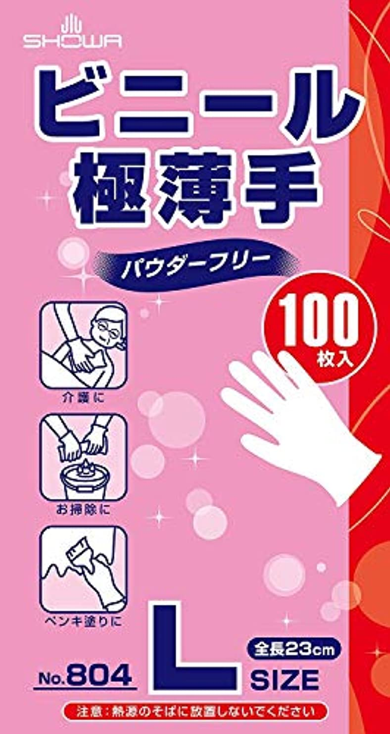 (まとめ買い)ショーワ ビニール極薄手パウダーフリー L 100枚入 【×5セット】
