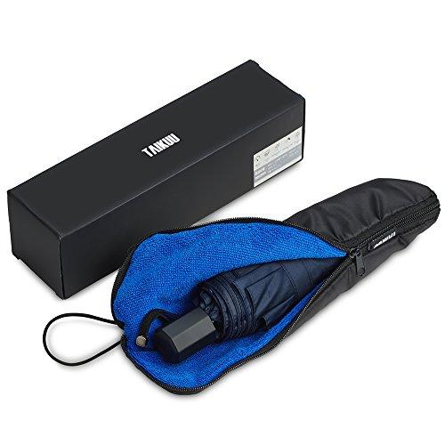 超軽量 折りたたみ傘 TAIKUU 軽量 折り畳み傘 メンズ 240g 晴雨兼用吸水カバー付き (ブルー)