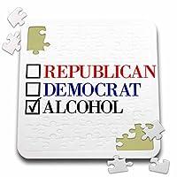 BrooklynMeme面白いことわざ–Republican Democrat Alcohol–10x 10インチパズル( P。_ 253755_ 2)