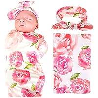 赤ちゃん用スワドルブランケットラップ ヘッドバンド付き 新生児用ブランケット X-Large ピンク 43221-4125