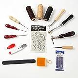レザークラフト 工具 セット 革 DIY 手作り 裁縫 レザーツール 皮革 工具 16点セット