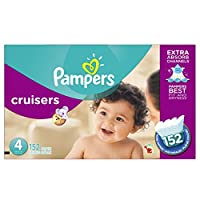 Pampers Cruisers Diapers Economy Plus Pack, Size 4, 152 Count by Pampers