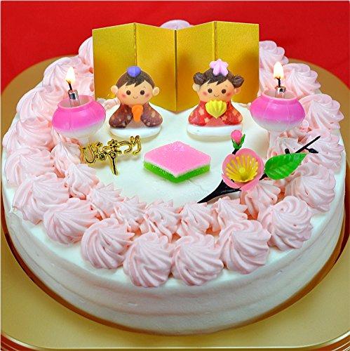 ひな祭りケーキ 生クリームケーキ 5号 ホール ひなまつりケーキ ひなケーキ 初節句 お好きな指定日配達OK
