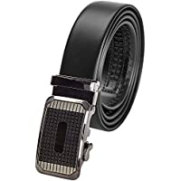 Designer Men's Ratchet Click Belt -Genuine Leather, Automatic -by Indigo Station