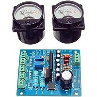 Prament 2Pcs VUメーターウォームバックライト録音+オーディオレベルアンプ、ドライバーボード付 COD