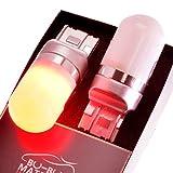 ぶーぶーマテリアル T20 LED ダブル 後続に優しい光拡散 ブレーキランプ レッド 無極性 2個 12-30V