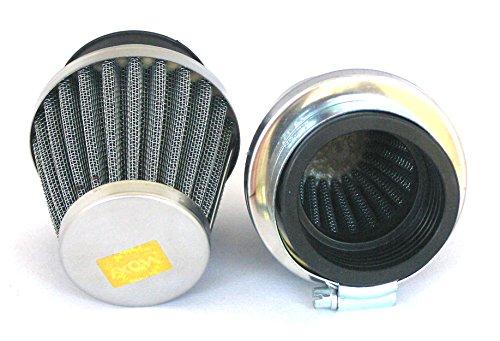 【DWSg】 パワー フィルター φ 38 ~ 40 mm 2個 セット 汎用 メッシュ エアー クリーナー 交換 用 A128