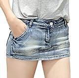 (マゴット) Maggot デニム ショートパンツ レディース きれいめ 選べて嬉しい 6タイプ 6サイズ ミニスカート ではありません Gパン ジーンズ 韓国ファッション (Cタイプ 5. XXL サイズ)