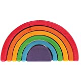 "Grimm's 6-Piece Rainbow Stacker - Nesting Wooden Waldorf Blocks, ""Elements"" of Nature: AIR"