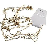 Ladies Harness Alloy Bead Body Chest Waist Chain Necklace Beach Bikini Gold