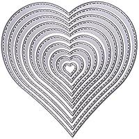 Chinatera Heart Cutting Dies Metal Stencils For Diy Scrapbooking Card Handmade Paper Craft (Pattern 3#)