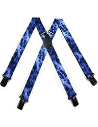 ブルー – ブラックバイカーメンズサスペンダーby the-perfect-necktie