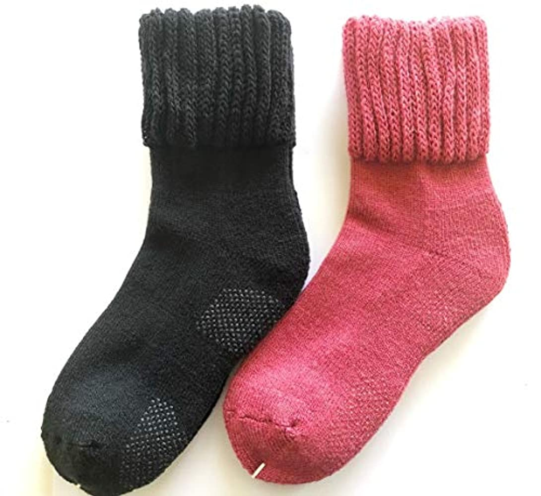 じゃがいもリラックス誇張【在庫処分】この暖かさは半端ない レディース パイル靴下 厚手 ゆったり ゴム 滑り止め 付き 23-25㎝ 冷え 対策 842p 太陽ニット