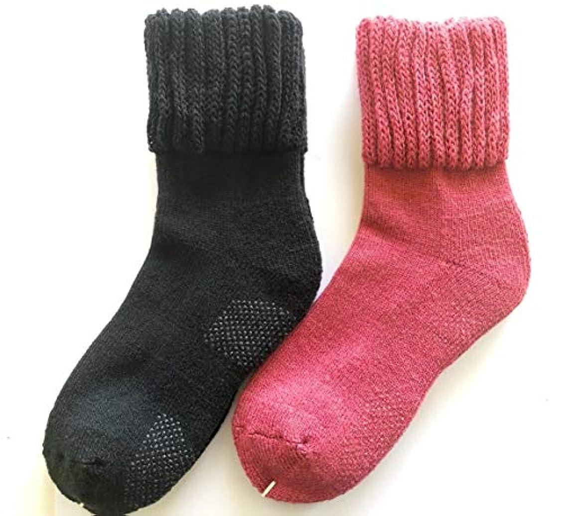 アラスカ動力学優れた【在庫処分】この暖かさは半端ない レディース パイル靴下 厚手 ゆったり ゴム 滑り止め 付き 23-25㎝ 冷え 対策 842p 太陽ニット