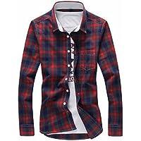 [Make 2 Be] メンズ 長袖 チェック 柄 ネルシャツ カジュアル シャツ KB76
