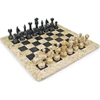 12x12 Classic White & Black Marble Chess Set Staunton Comes With Free Gift Box Makes Perfect Gift by Marble 'n things [並行輸入品]