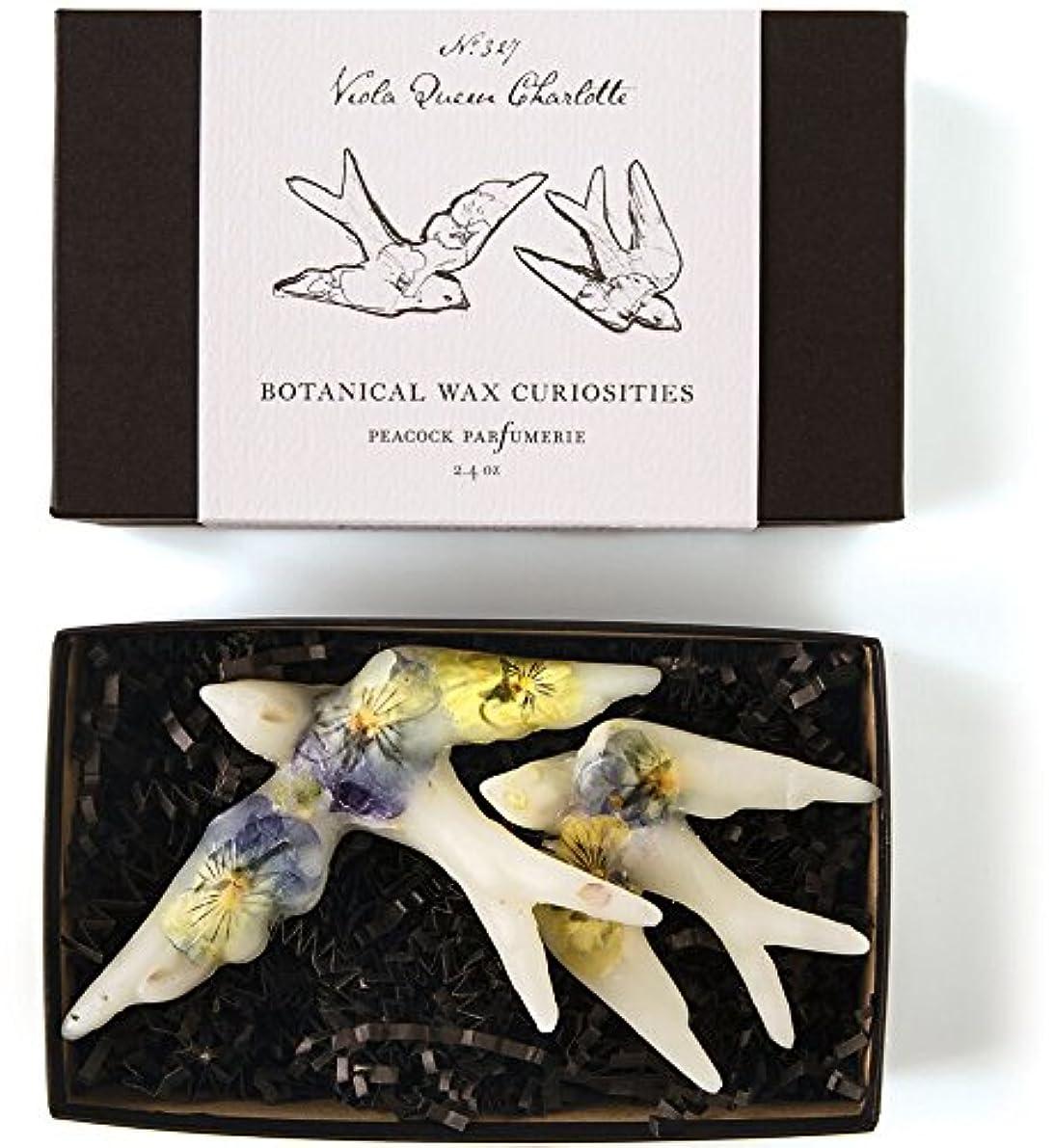マーキー湖サンダースロージーリングス ボタニスト ボタニカルワックスキュリオシティ ビオラクィーンシャーロット ROSY RINGS Botanist Collection Botanical Wax Curiosities – Viola Queen Charlotte