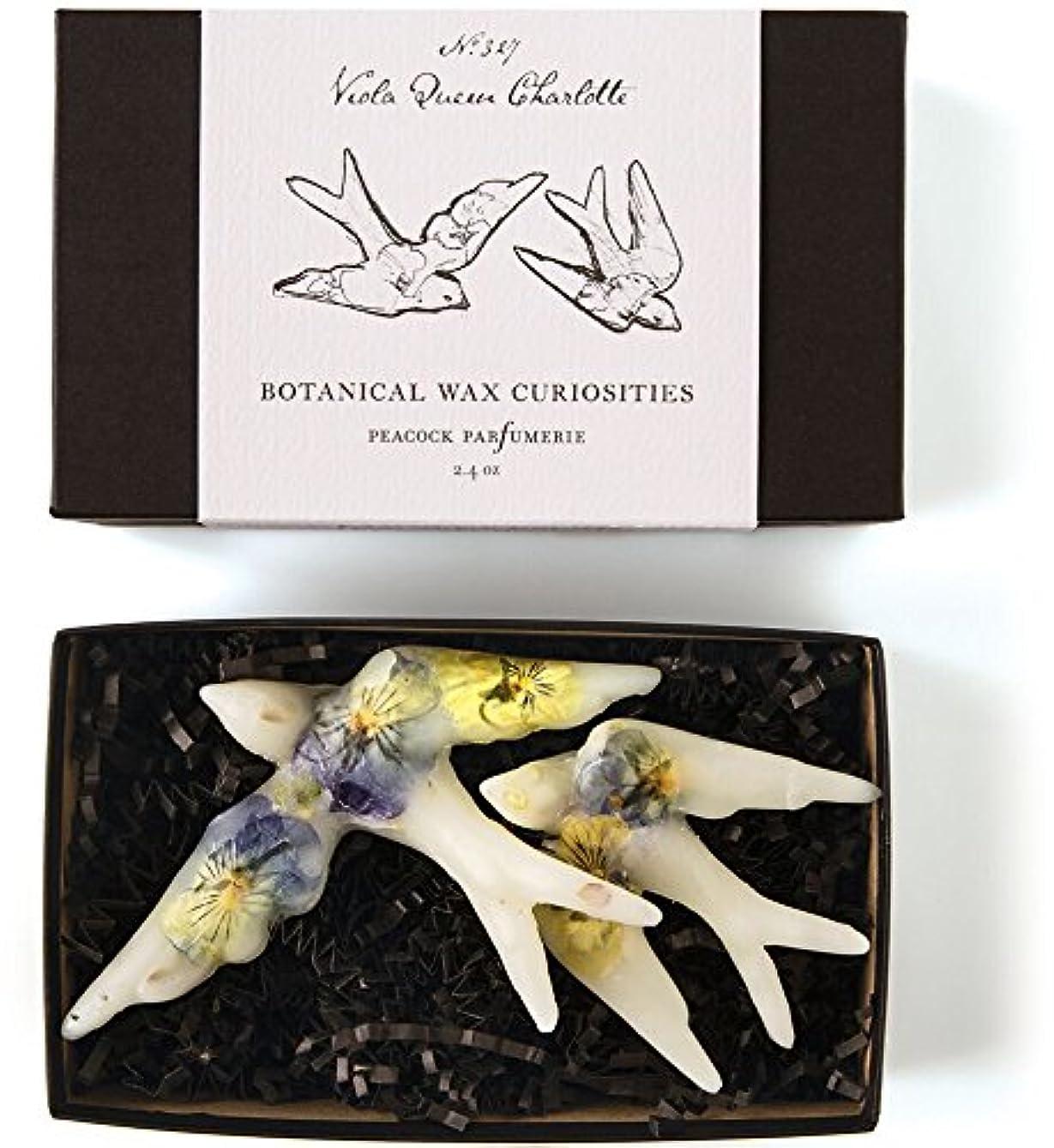 日食詩期間ロージーリングス ボタニスト ボタニカルワックスキュリオシティ ビオラクィーンシャーロット ROSY RINGS Botanist Collection Botanical Wax Curiosities – Viola Queen Charlotte