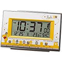 リズム時計 くまのプーさん 電波 目覚まし キャラクター 時計 8RZ133MC08
