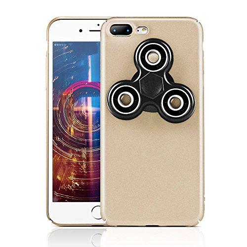 HAOCOOハンドスピナー iPhone 7 Plusケース Hand spinner iPhone Case 衝撃吸収バンパー 擦り傷防止 ストレス解消 アイフォン 7 Plus用のハンドスピナーコンボケース (iPhone 7 Plus, ゴールデン)