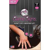 野球/ソフトボールキャッチャー爪明るい色付きゲームサインステッカー、信号明確(ピンク100枚)
