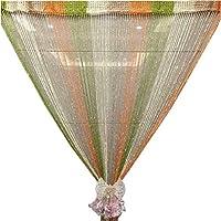 Bixiangji 窓カーテンシャイニータッセルフラッシュラインドアドレープヴァランス装飾寝室用パーティーウェディング (Color : Color309, サイズ : 100cmX200cm)
