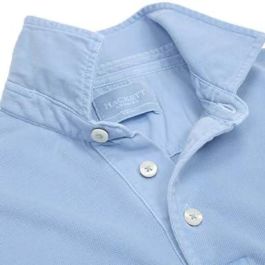 Hackett Desert Dye Polo Shirt HM560264: Sky