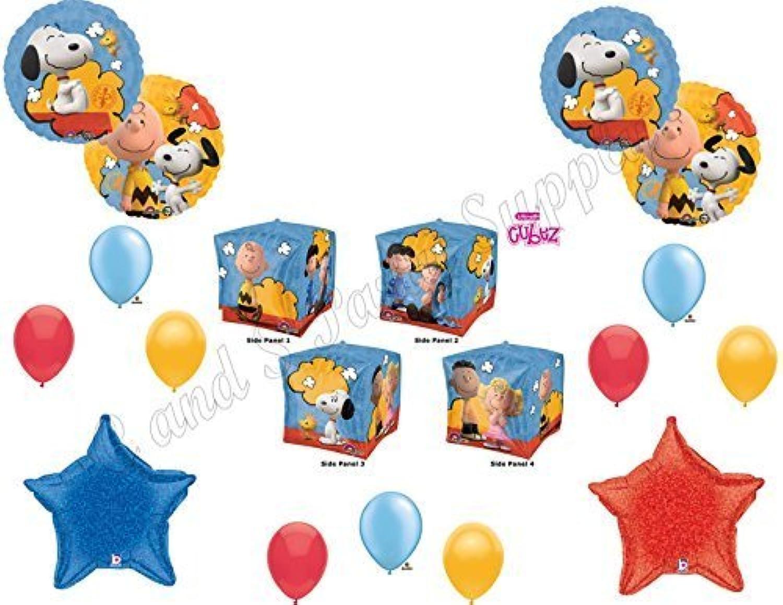 Peanuts CharlieブラウンCubez Balloons Decoration Suppliesパーティースヌーピー新しいムービー。By Anagram