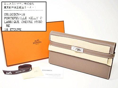 (エルメス) HERMES ケリー ウォレット ロング T刻印 / 2015年製造 シェーブル エトゥープ 29570809