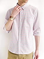(モノマート) MONO-MART 綿麻 リネンシャツ シャツ スプリング きれい目 モード トップス ビジネス デザイナーズ 柄 無地 カラー メンズ
