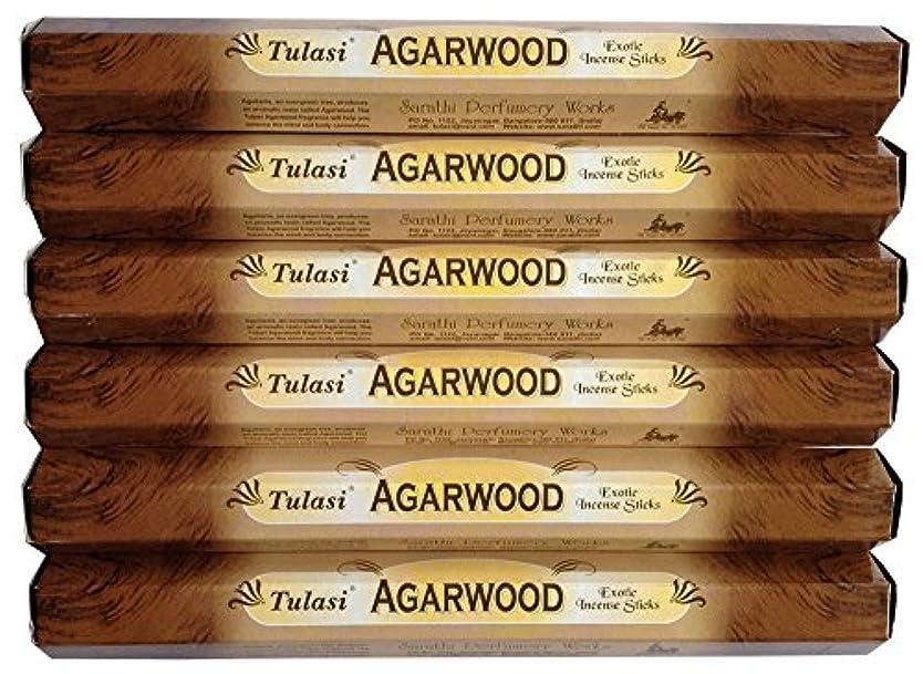 伝統的本気許されるトゥラシ アガーウッド 6個セット