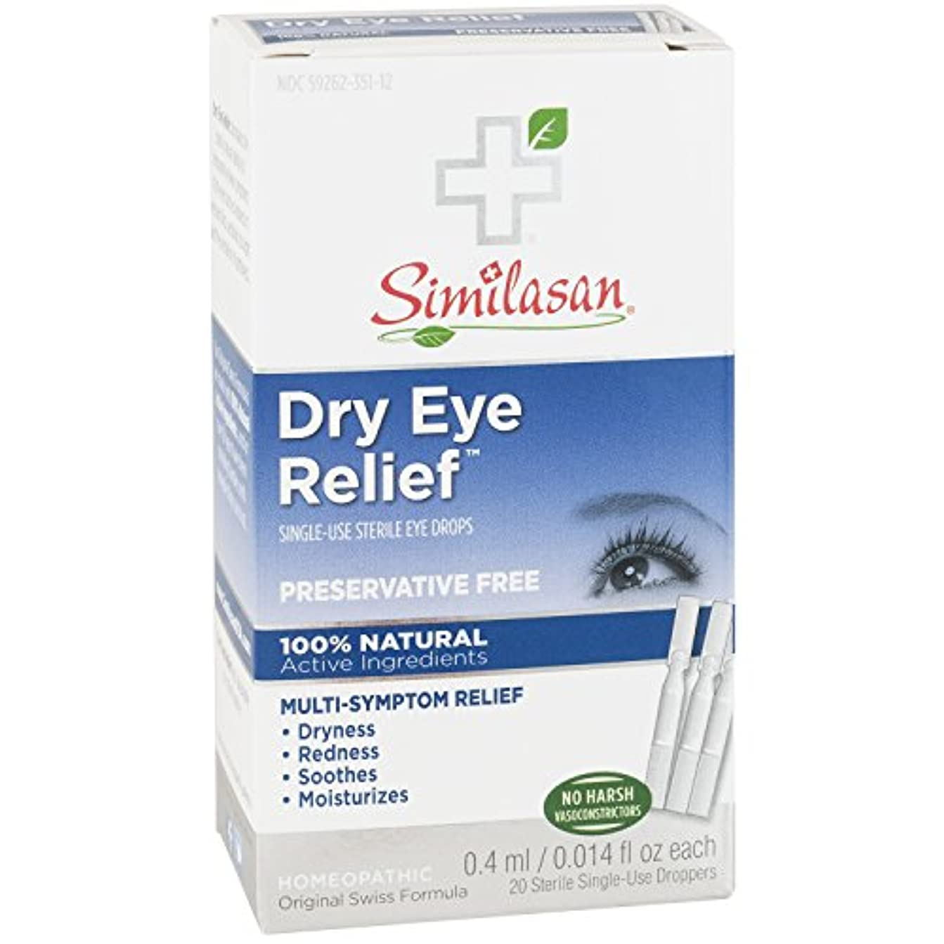 メンタリティ盲目服を着るSimilasan Preservative-Free Dry Eye Relief Eye Drops, .014-Ounce Single-Use Droppers in 20-Count Boxes by Similasan