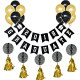 Funpa バルーン 風船 23個セット 卒業式 装飾 ガーランド パーティー アクセサリー 掛け飾り 雰囲気 紙 ラテックス カラフル 会場 フリンジ ハニカム バー ディスコ