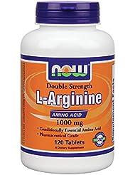 NOW L-Arginine 最高濃度版?アルギニン1000mg ×120タブレット