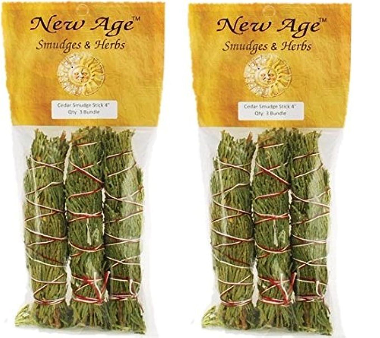 開梱咲く錫Cedar smudge stick – パックof 3 Smudge Sticks グリーン B01ETEY1GQ