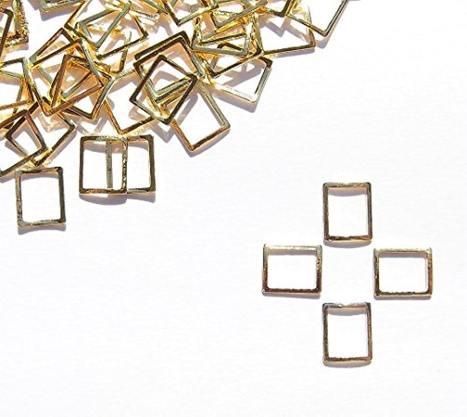 茎叫び声ブルーベル【jewel】メタルフレームパーツ スクエア型 5.5mm×5mm 10枚入り ゴールド 金 (カーブ付きフラットタイプ)素材 材料 レジン ネイルアート パーツ 手芸