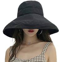 MOKIE Women's Wide Brim Sun Hats Foldable UPF 50+ Sun Protective Bucket Hat