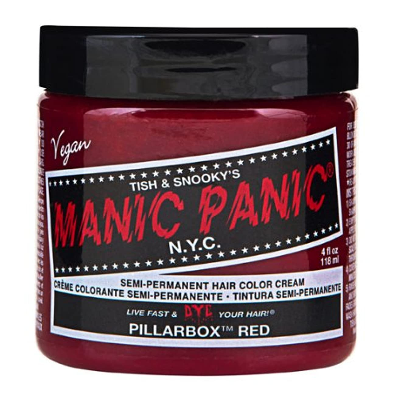 メドレー到着電子レンジマニックパニック MANIC PANIC ヘアカラー 118mlピラーボックスレッド ヘアーカラー