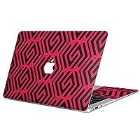 """MacBook Air 13inch 2018モデル / A1932 専用スキンシール マックブック エア Mac 13"""" インチ Retina 専用シール フィルム ステッカー アクセサリー 保護 (2010年 ~ 2017年モデル 非対応) 010145 模様 赤 黒"""