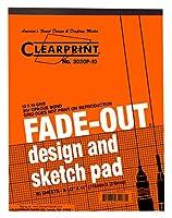 Clearprint 3020Bondパッドwith Printed fade-out 10x 10グリッド、20lb。、8–1/ 2x 11インチ、50シート、ホワイト、1各( 937811p1)