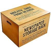 BREA-1373BR 日本製 収納ストッカー 木製 おもちゃ箱 ペットフードケース (ブラウン)