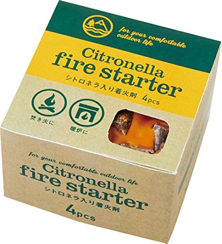 中庭胚芽ハンバーガーカメヤマキャンドルハウス シトロネラ ファイヤースターター 4個入り