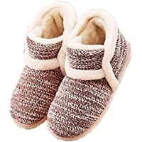 Garatia Winter Vintage Boot Womens Slippers Arctic Solid Indoor Outdoor House Shoes Pink Size: 6-7.5