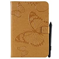Samsung Galaxy Tab A 8.0 T350 - Protective 女の子 レザーカバー Leather Case/Cover / Bumper/Skin / Cushion - Fashion Art Collection (Yellow)