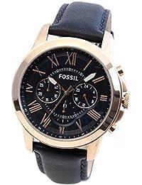 フォッシル FOSSIL グラント クオーツ メンズ クロノ 腕時計 FS4835 ネイビー [並行輸入品]