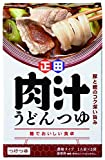 正田醤油 麺でおいしい食卓 肉汁うどんつゆ 180g ×4箱