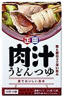 正田醤油 麺でおいしい食卓 肉汁うどんつゆ 180g×4箱