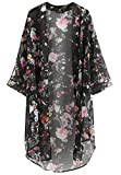 [ライオンガーデン] ガウン 花柄 シースルー 透け感 羽織り 羽織 ロング カジュアル レディース S ~ 2XL