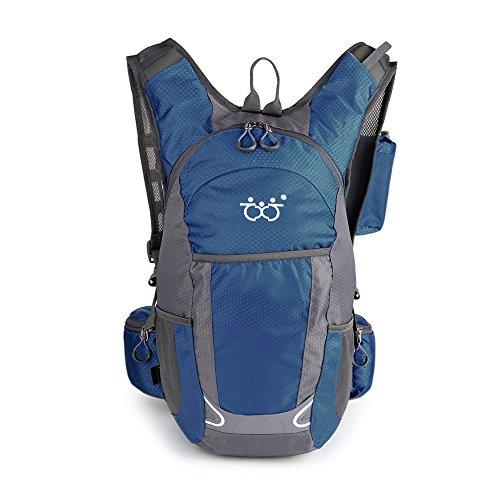 登山 リュック 30L 防撥水 リュックサック サイクリングバッグ多機能 軽量トレッキング 自転車 旅行 ハイキング デイパック バックパック 通気性 ユニ (ダークブルー)